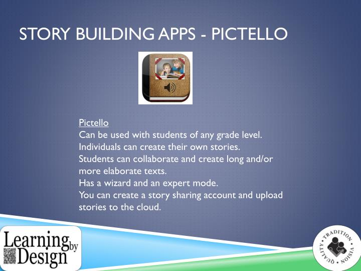 Story Building Apps -