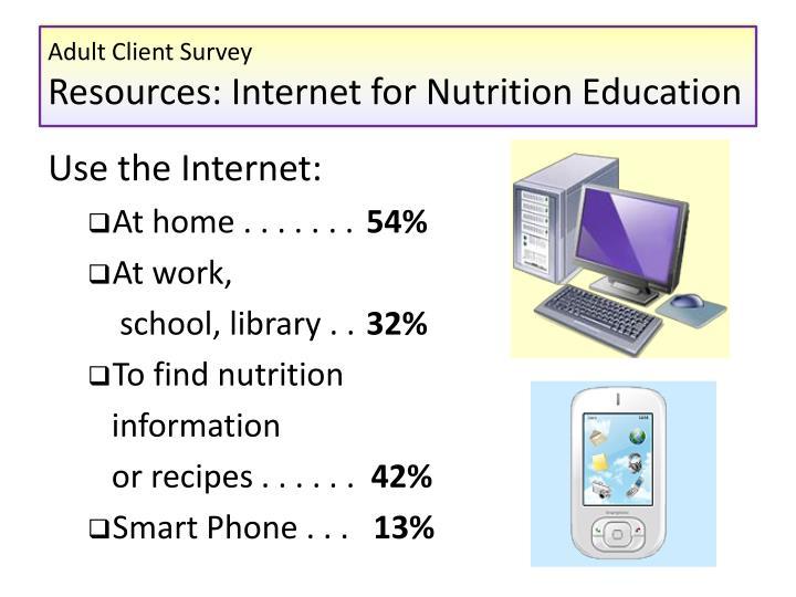 Adult literacy survey