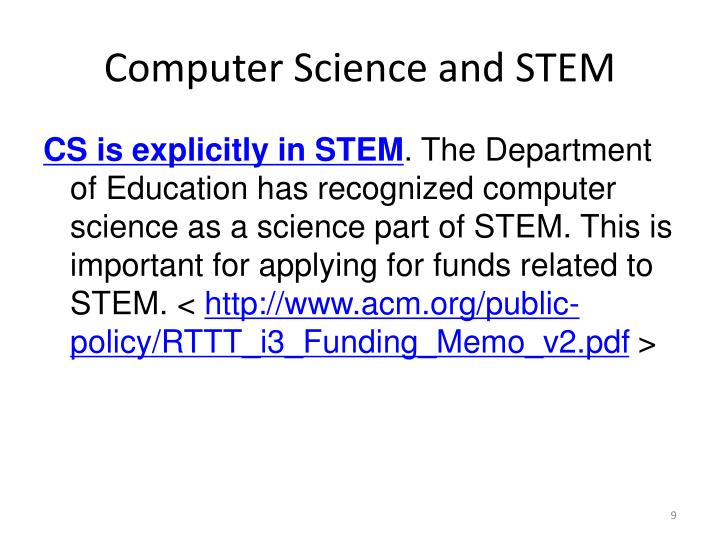 Computer Science and STEM
