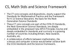 cs math stds and science framework