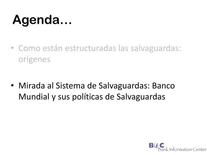 Agenda…