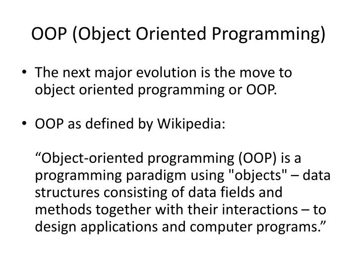 OOP (Object Oriented Programming)