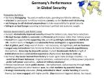 germany s performance in global security