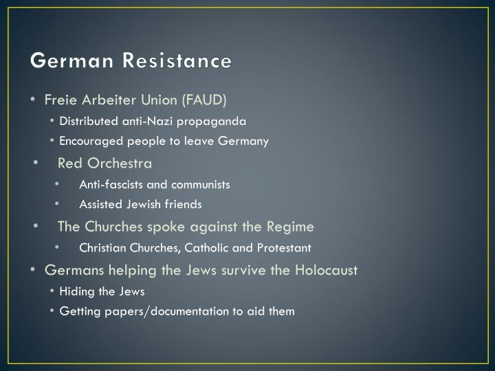 German Resistance