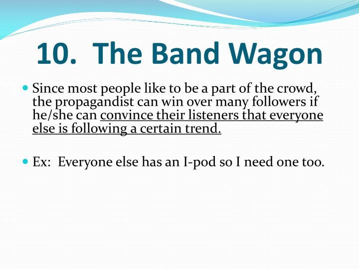 10.  The Band Wagon