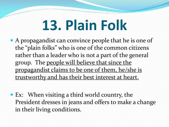 13. Plain Folk