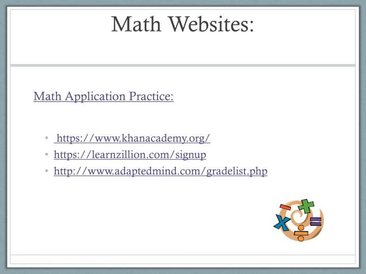 Math Websites:
