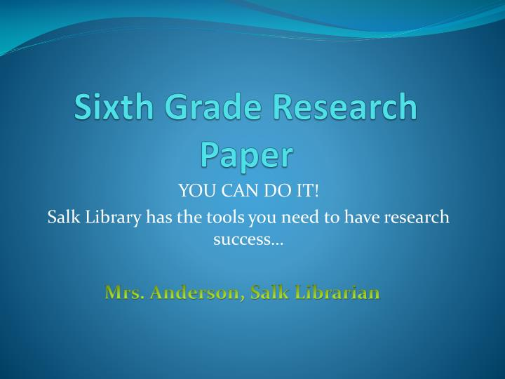 5th grade research paper topics