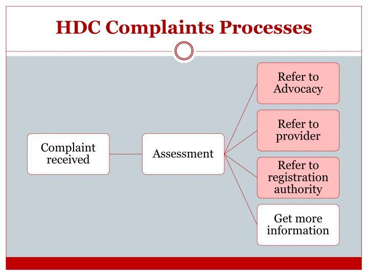 HDC Complaints Processes