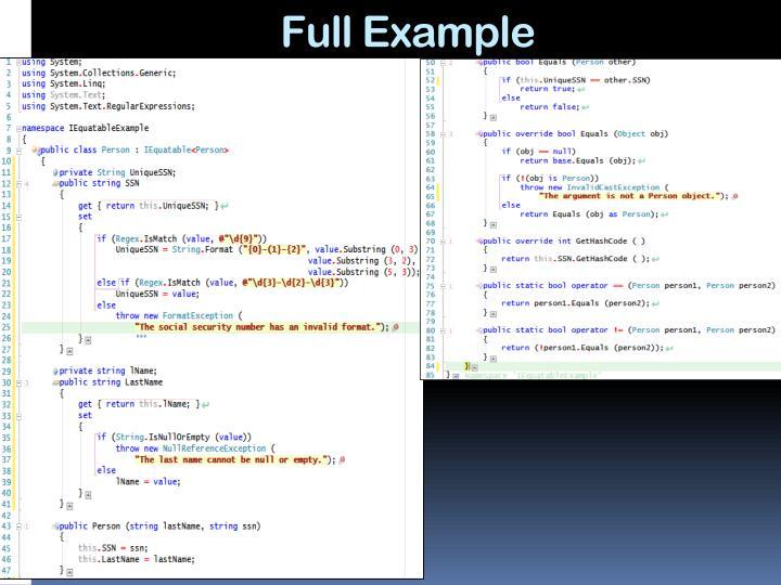 Full Example