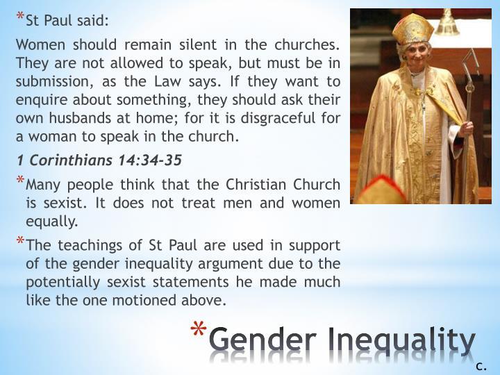 St Paul said: