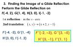 3 finding the image of a glide reflection