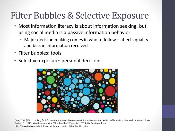 Filter Bubbles & Selective Exposure