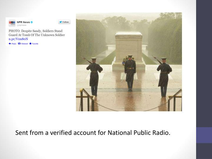Sent from a verified account for National Public Radio.