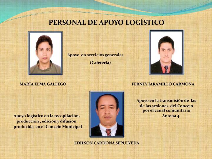 PERSONAL DE APOYO LOGÍSTICO
