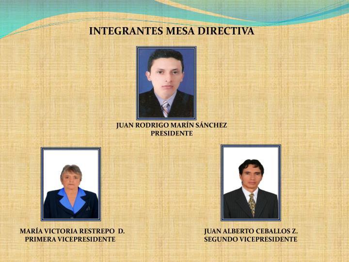 INTEGRANTES MESA DIRECTIVA