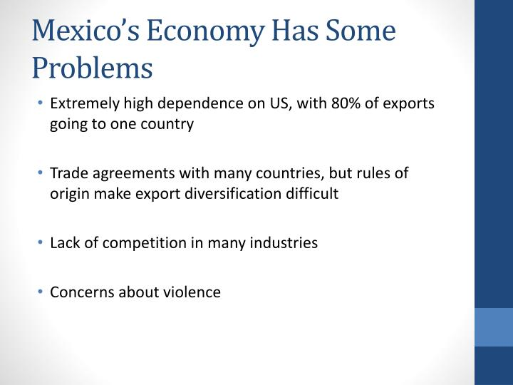 Mexico's Economy Has Some Problems