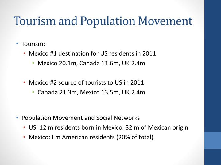 Tourism and Population Movement