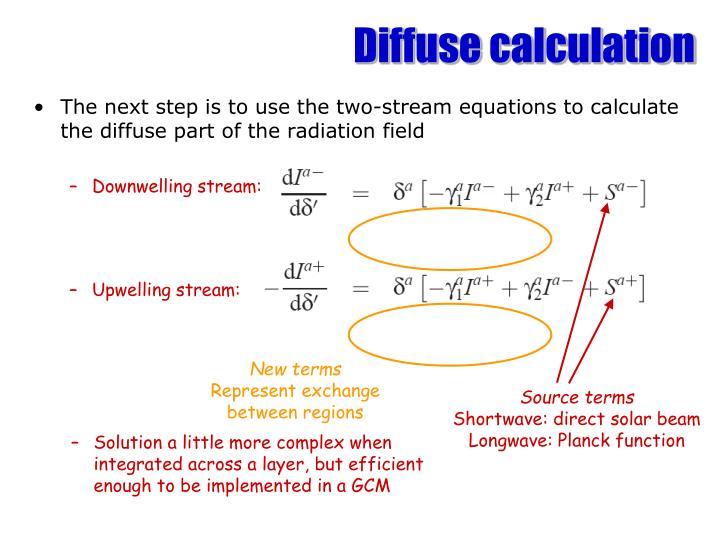 Diffuse calculation