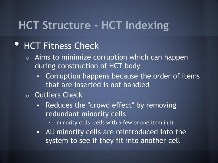 HCT Structure -