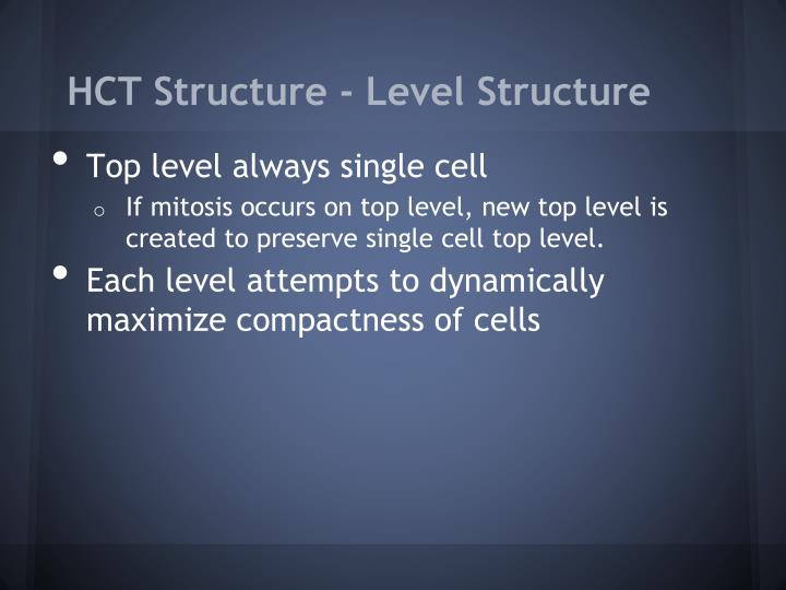 HCT Structure - Level Structure