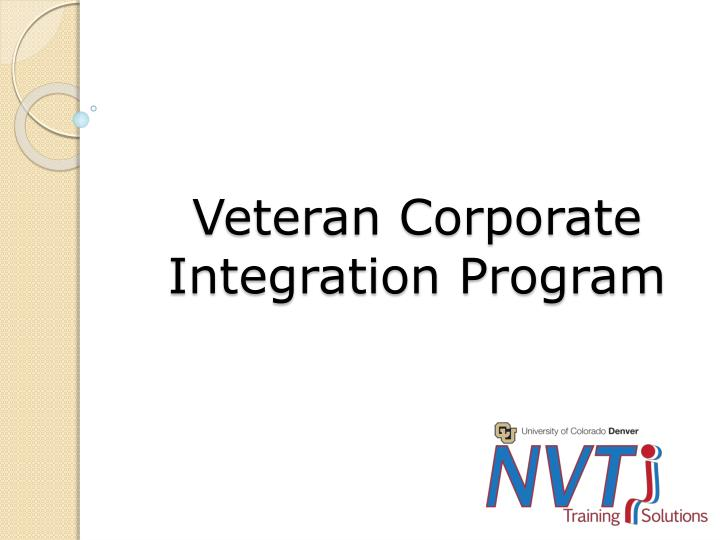 Veteran Corporate Integration Program