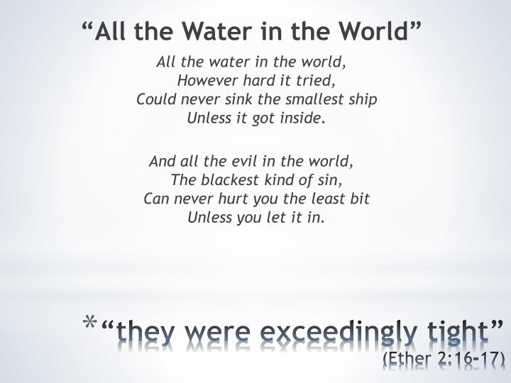 """All the Water in the World"""