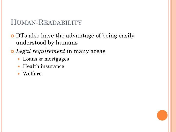 Human-Readability