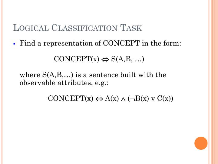 Logical Classification Task