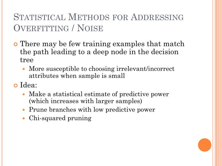 Statistical Methods for Addressing