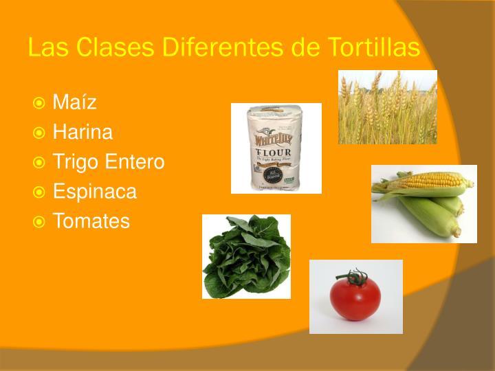 Las Clases Diferentes de Tortillas