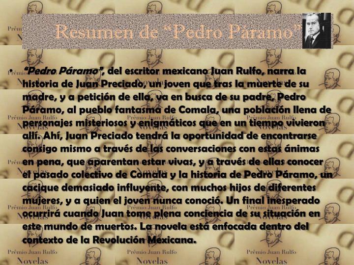 "Resumen de ""Pedro Páramo"""