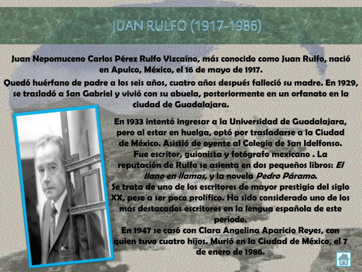 JUAN RULFO (