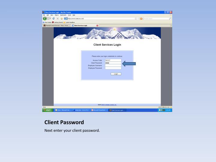 Client Password