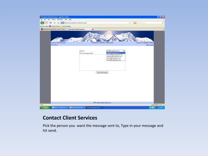 Contact Client Services