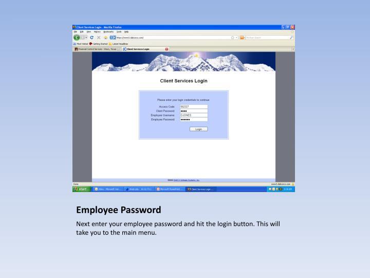 Employee Password