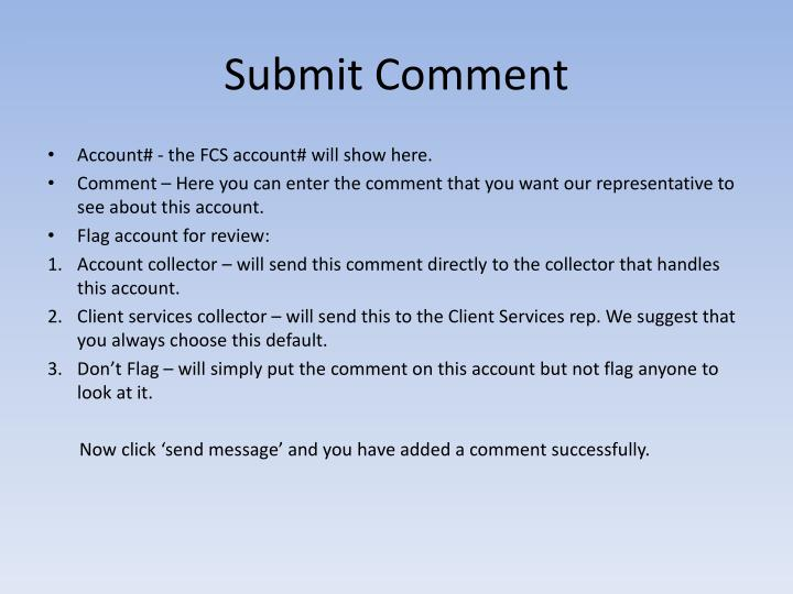 Submit Comment