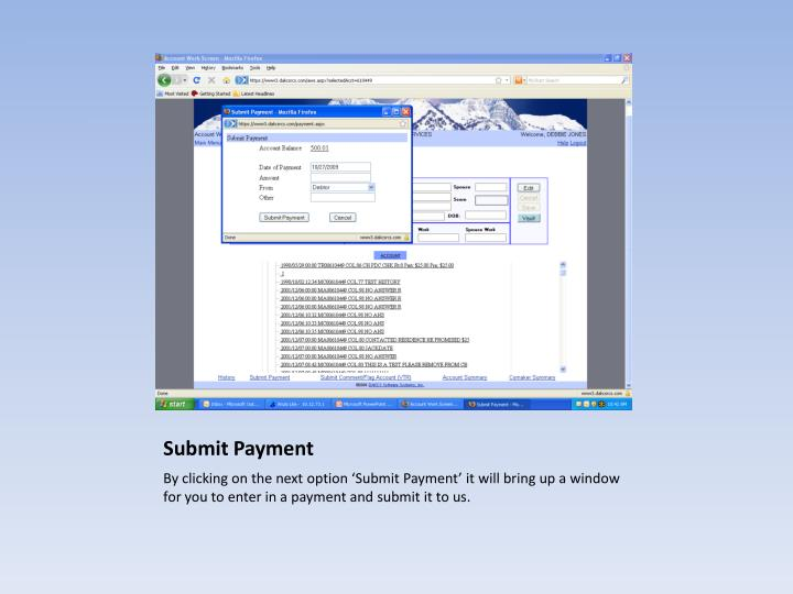 Submit Payment