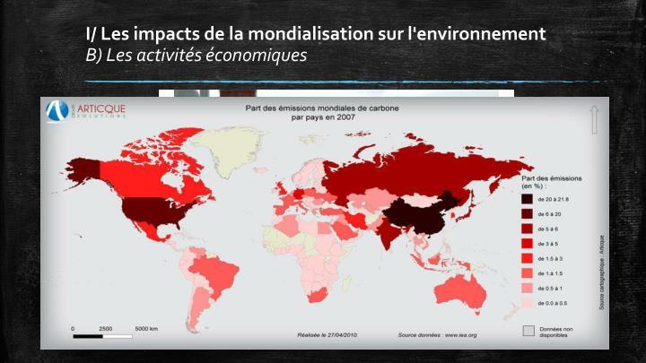 I/ Les impacts de la mondialisation sur l'environnement