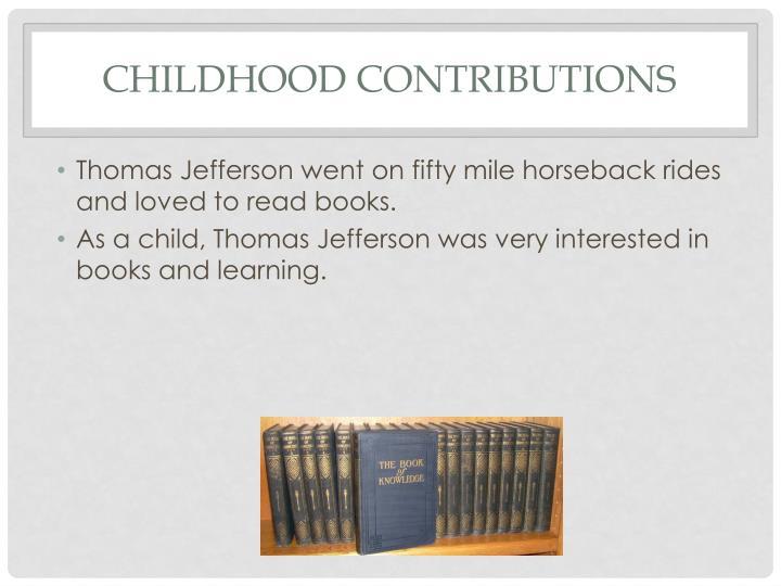 Childhood contributions