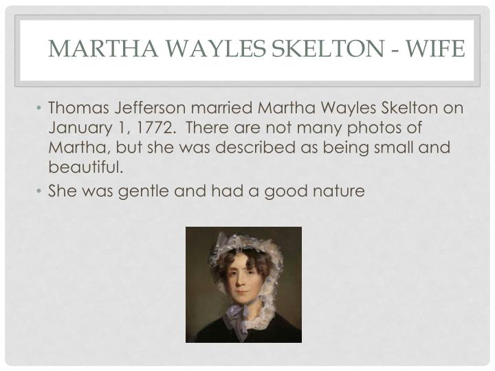 Martha wayles skelton