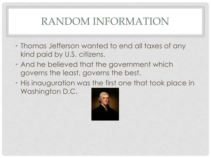Random information