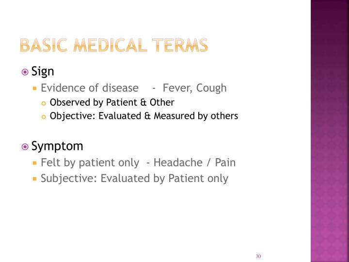 Basic Medical Terms