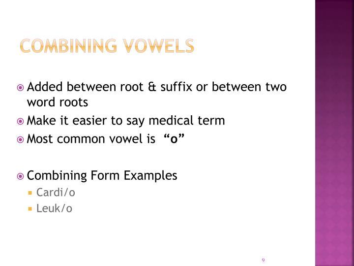 Combining Vowels
