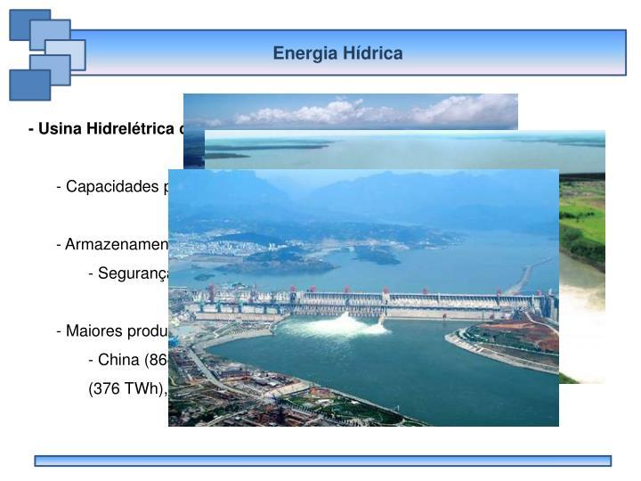 Energia Hídrica