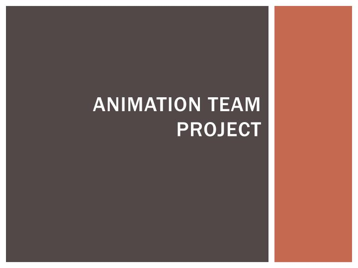 animation team project