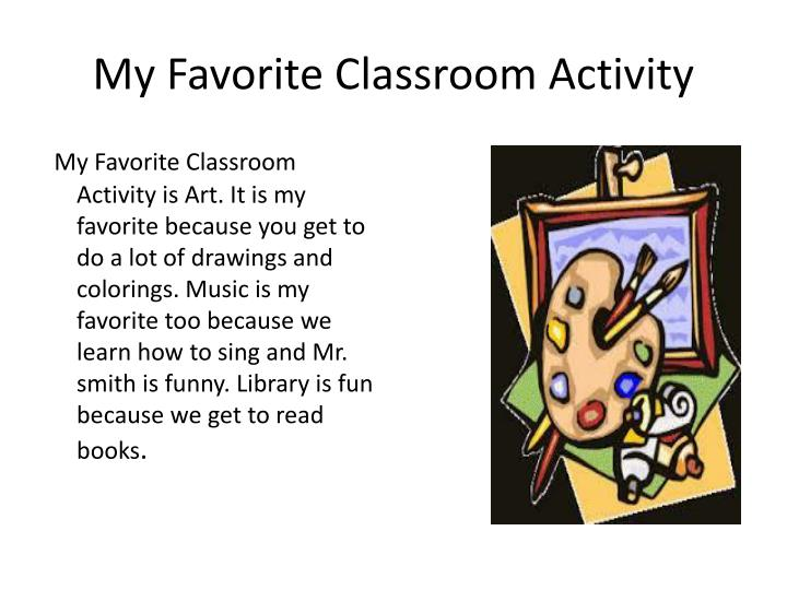 My Favorite Classroom Activity