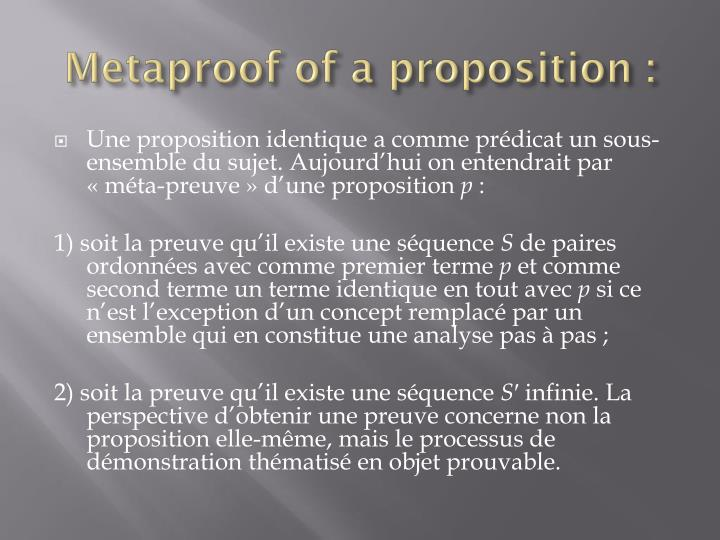 Metaproof