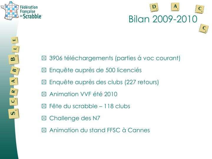Bilan 2009-2010