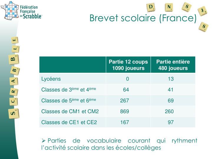 Brevet scolaire (France)